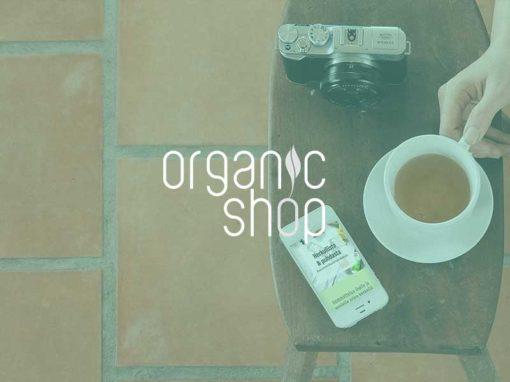 Case: Organic Shop -brändisivu
